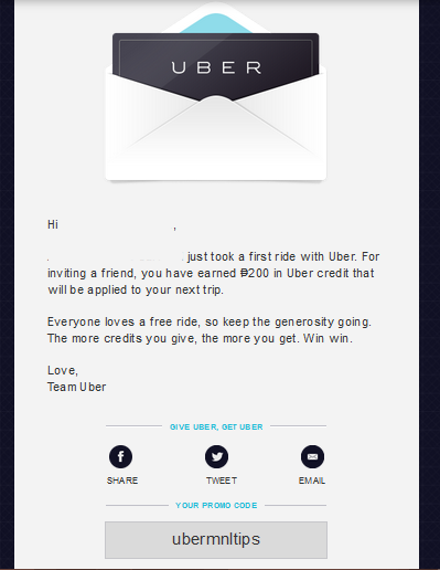 Tips: How to share your Uber invite code | Uber MNL Tips